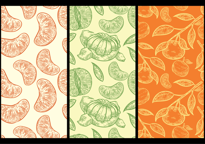 Clementine Pattern Background vector