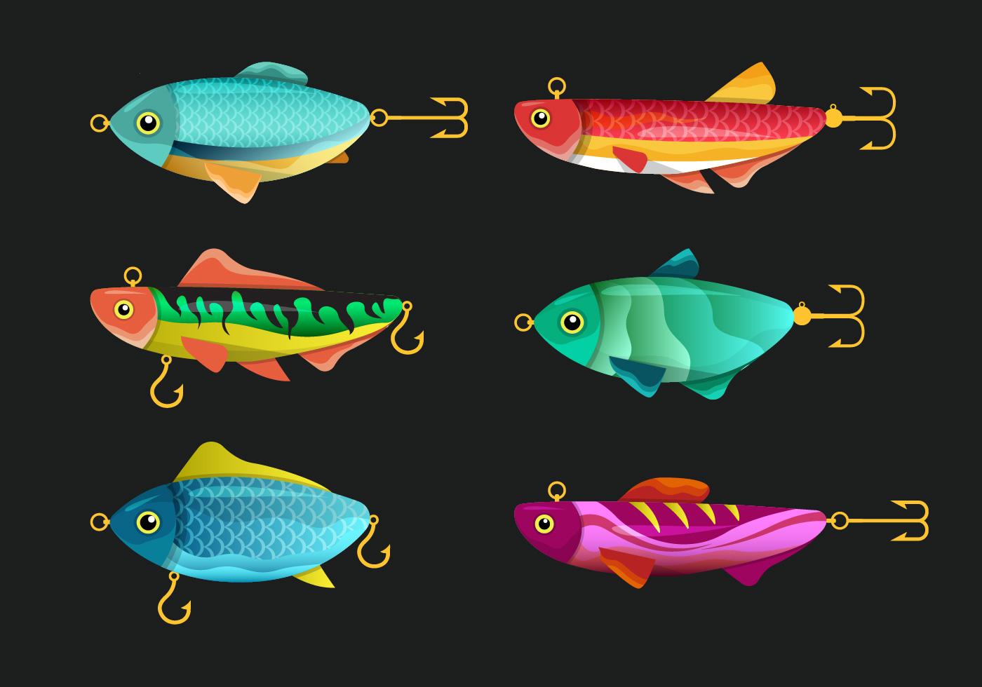 Fishing Tackle Vector Set - Download Free Vectors, Clipart ...