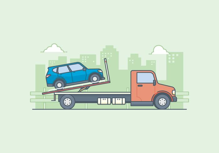 Free Towing Truck Illustration