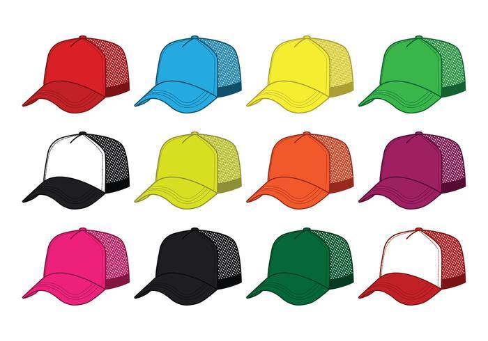 Blank Trucker Hat Vector