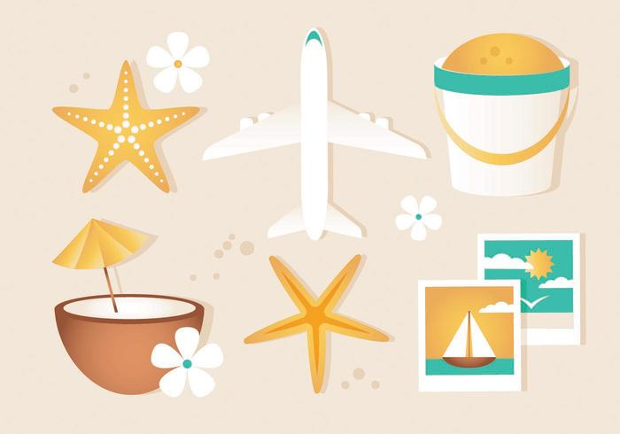 Free Vector Summer Travel Elements