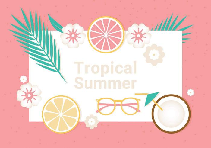 Free Tropical Summer Vector Illustration