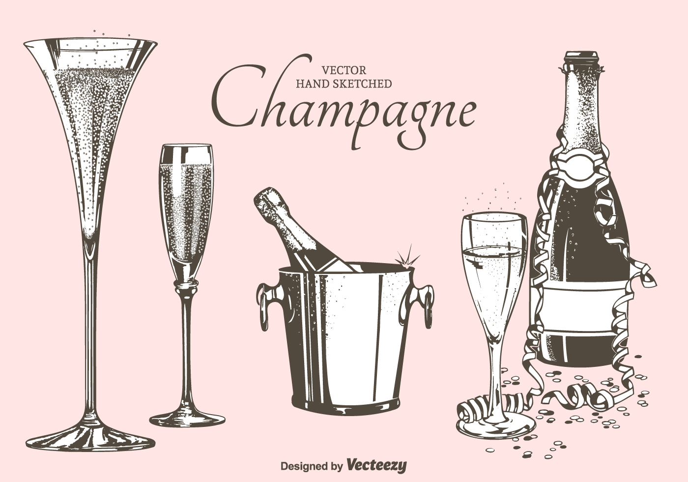 champagne flute cartoon vector images 43 - HD 1400×980