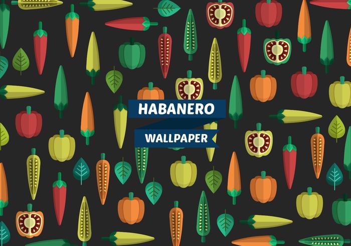 Habanero Muster Vektor Wallpaper