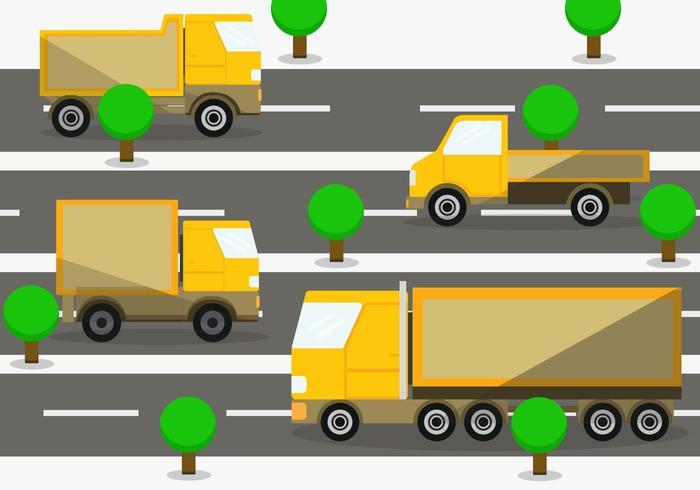 Moving Van Vector