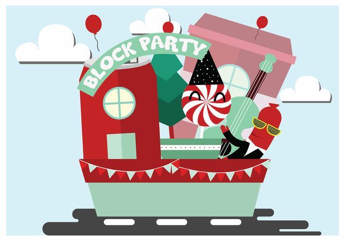 Block Party Vector Art