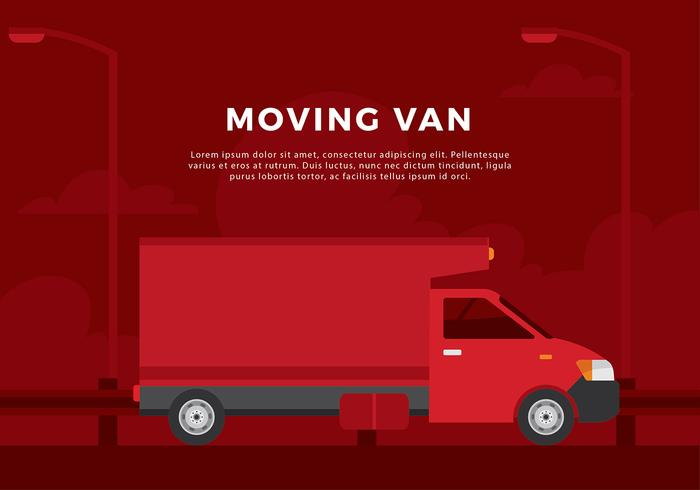 Moving Van Free Vector