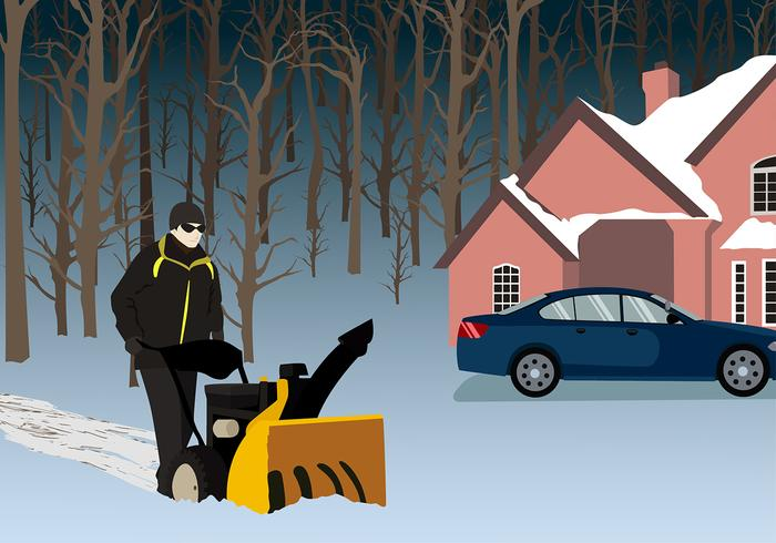 Snow Blower Free Vector