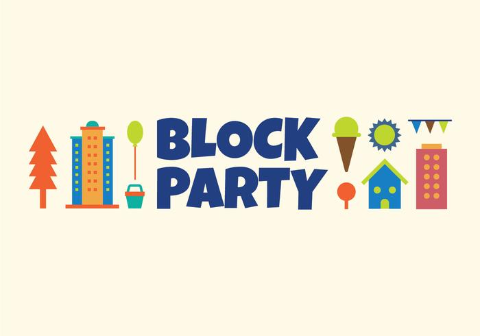 Block party vector illustration