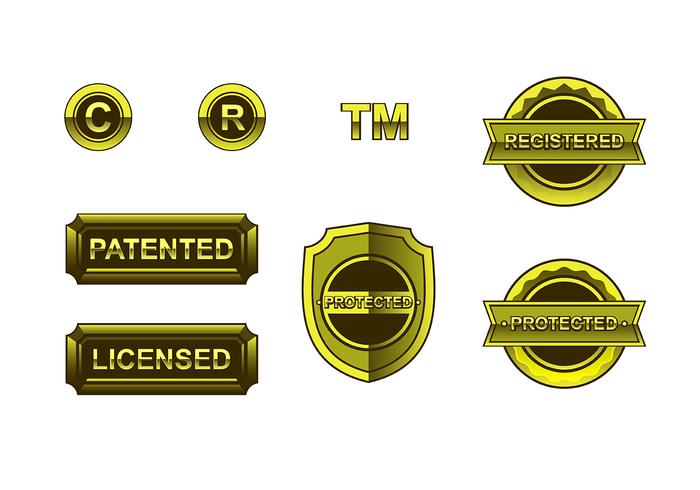 Gold Copyright Free Vector