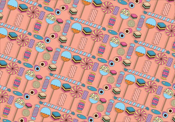 Licorice and Candy Colorful Vector Pattern