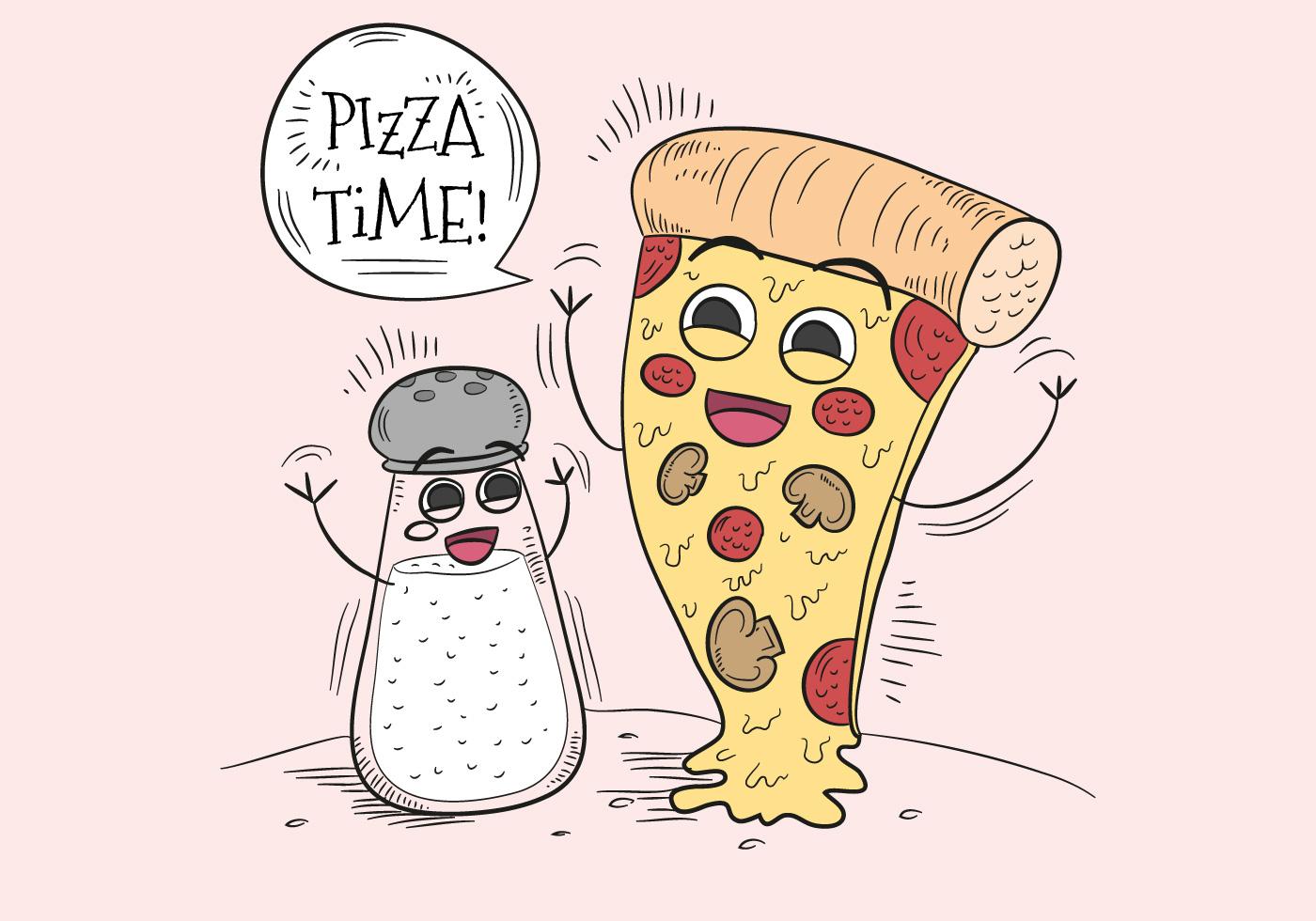 Смешная картинка с пиццей, открытка днем рождения