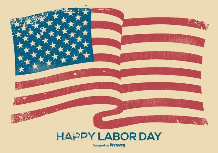Grunge Happy Labor Day Hintergrund