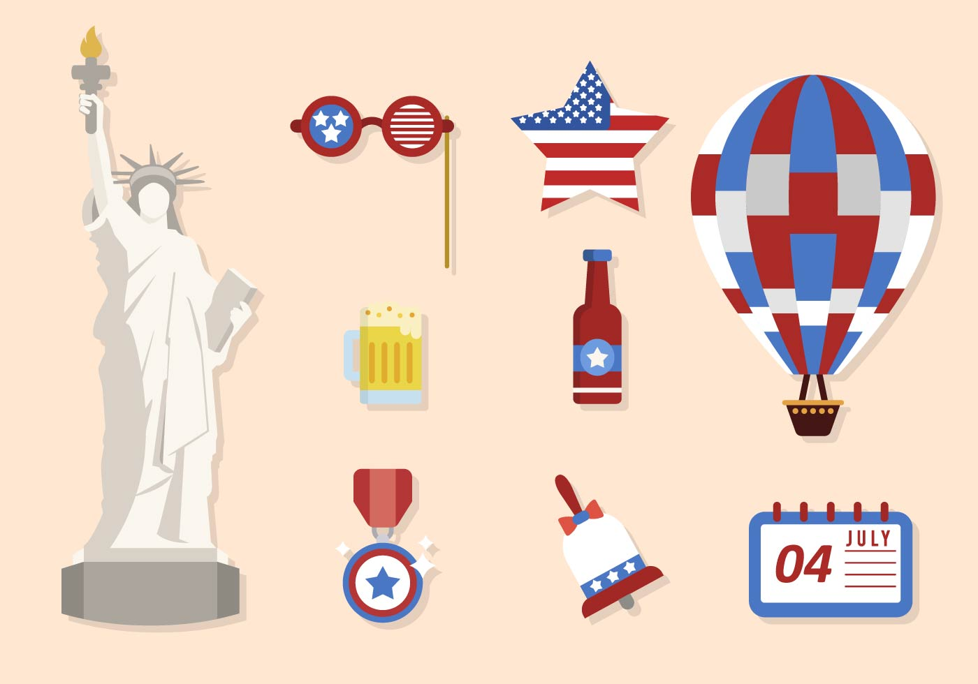 flat usa independence day vectors download free vector art stock graphics images