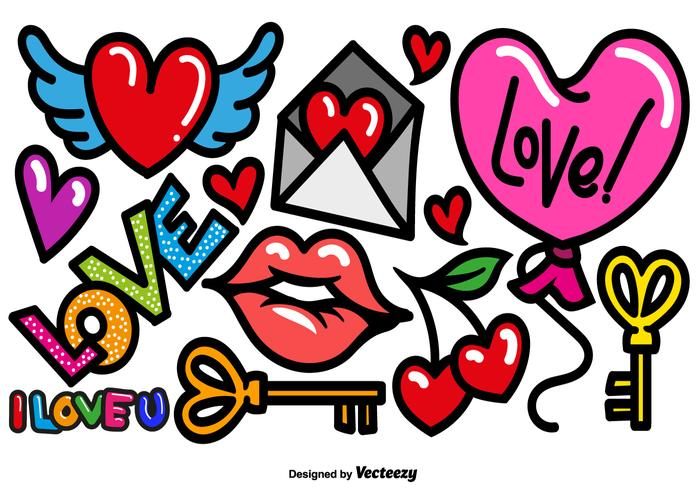 Vector Cartoon Love Icons