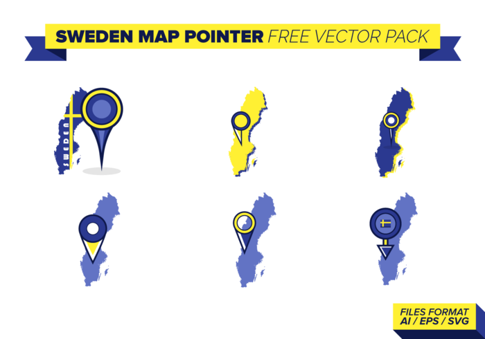 Sweden Map Pointer Free Vector Pack