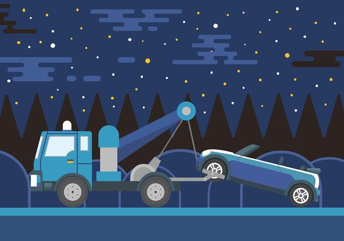 Towing Vector Background