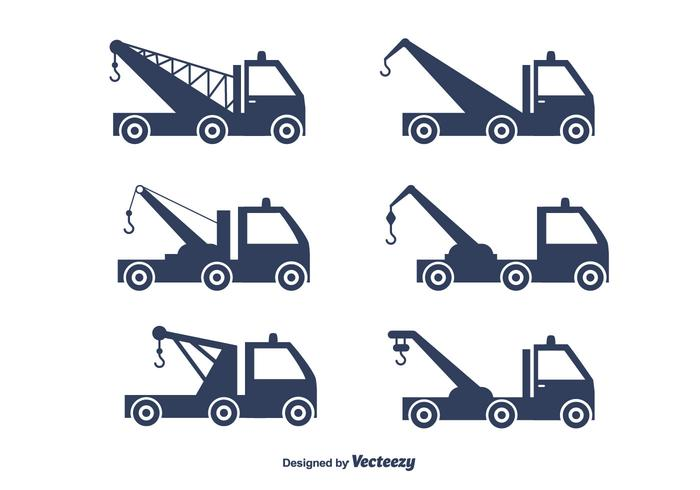 Towing Truck Vector Set