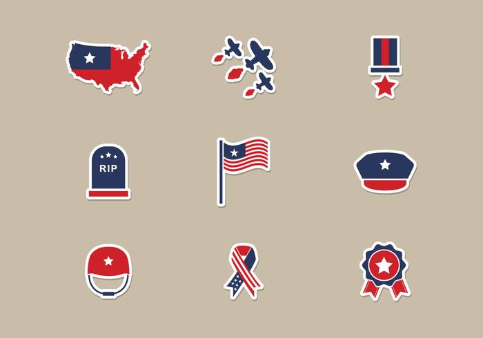 Memorial Day Icons Vector