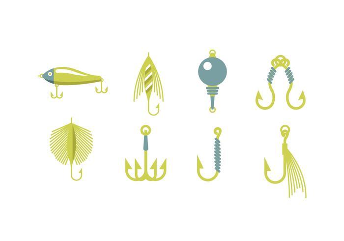 Fishing equipment vectors