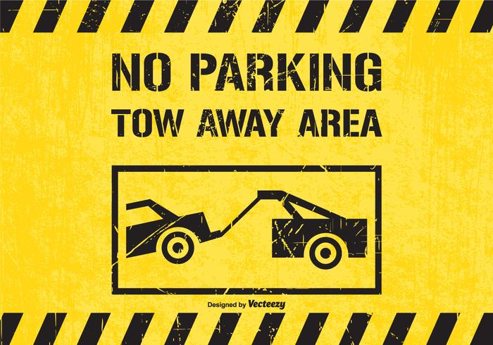 No Parking Tow Away Area Traffic Sign Vector