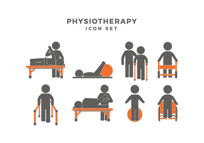 Physiotherapy Icon Set Vector