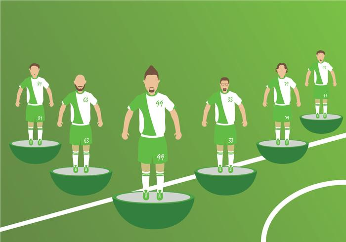 Subbuteo Players Vectors