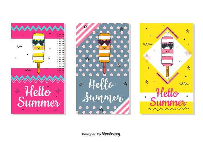 Hello Summer Card Set