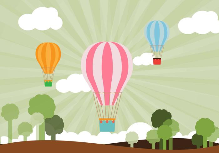 Flat Air Balloon Vector