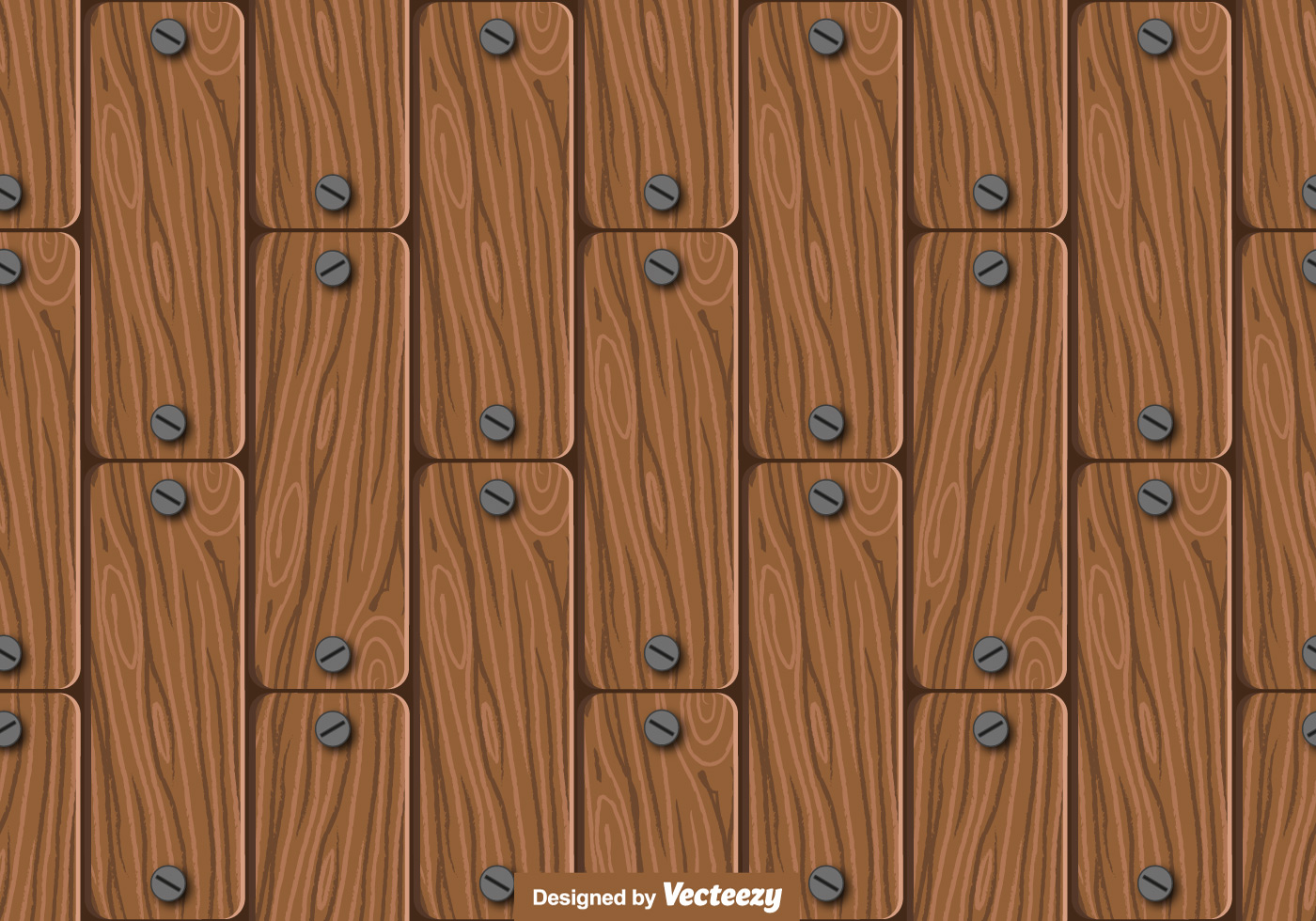 seamless wood planks pattern vector