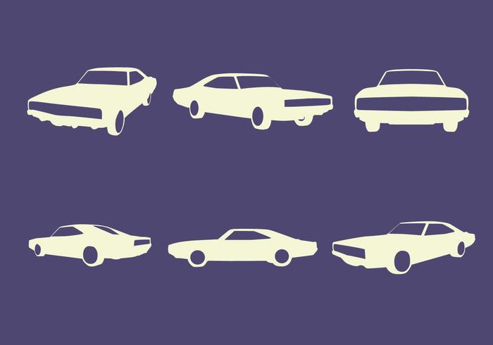 Vector Silhouettes do carro