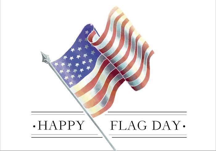 Aquarell Amerikanische Flagge vektor
