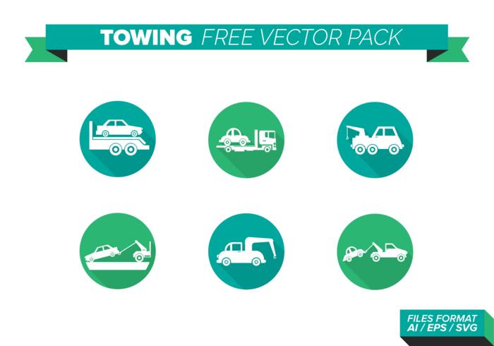Icônes de remorquage Free Vector Pack