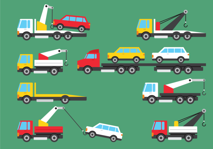 Towing Icons Vector