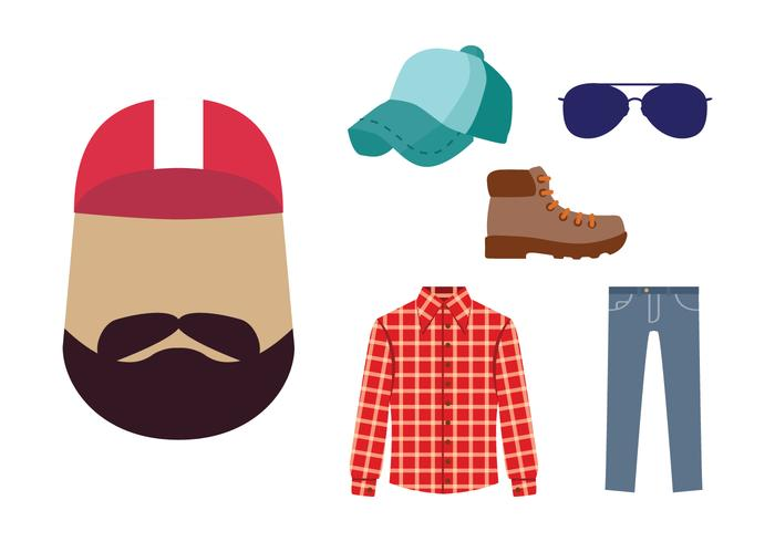 Trucker Guy Icon Vector