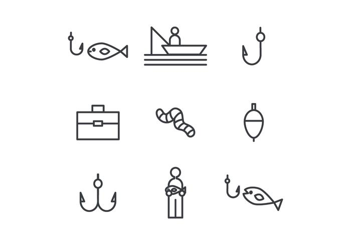 Fishing Outlined Icons