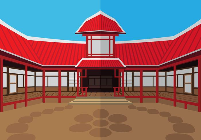 De buitenkant dojo tempel