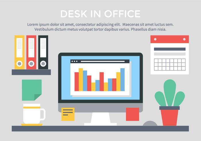 Free Vector Flat Design Workspace