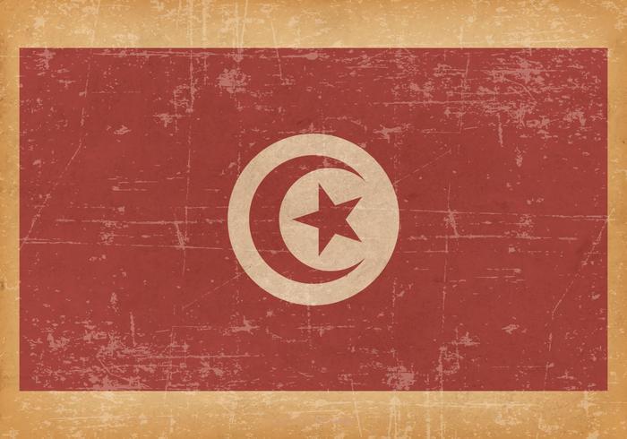 Grunge viejo bandera de Túnez