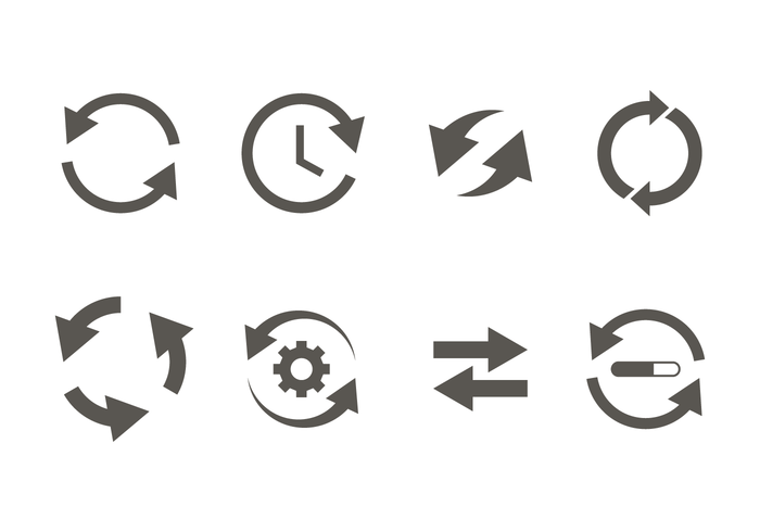 Glyph Update Icon Vector