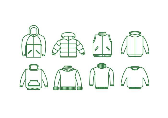 Jackets vector icon