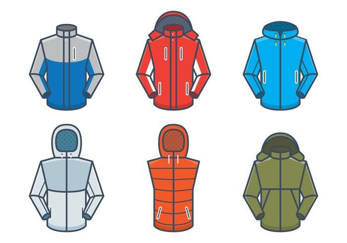 Outdoor Jackets Vector Mockups