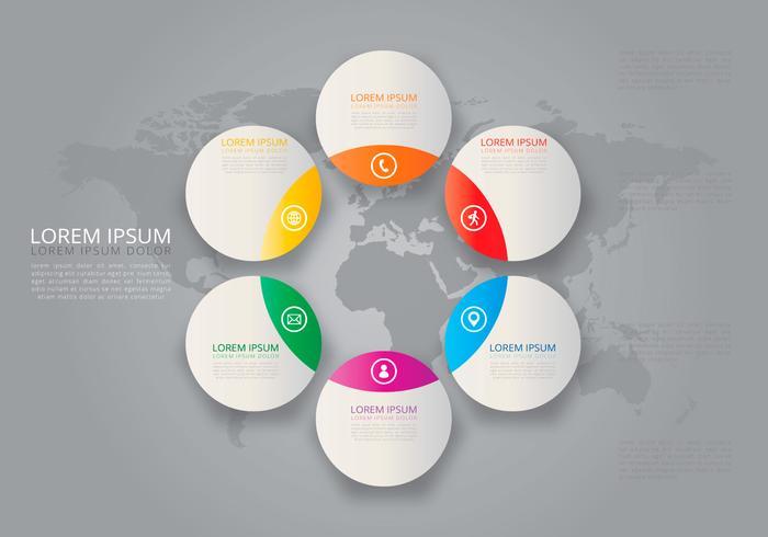Kreisförmige tel Infografische Vorlagen