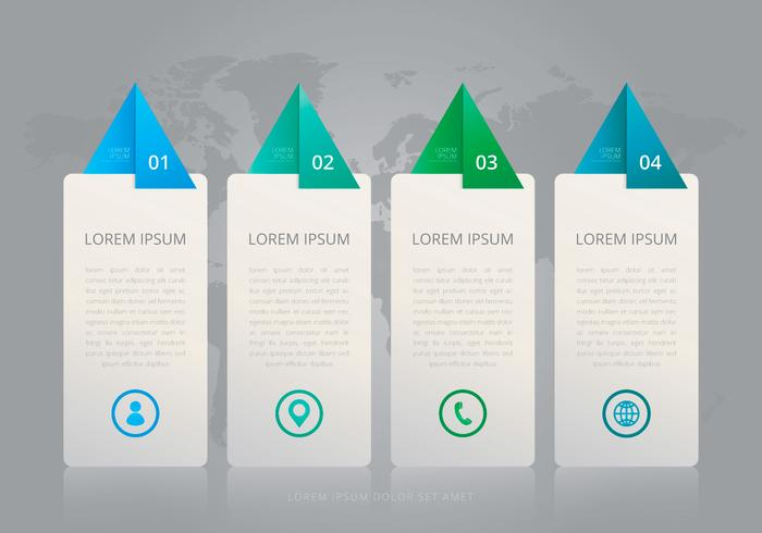 Vier stappen Tel Infographic Templates
