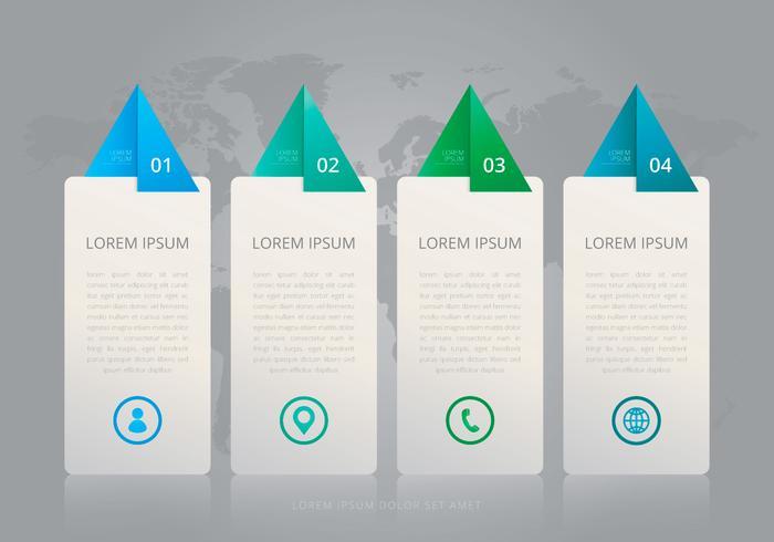 Modelli di infografica a quattro passi