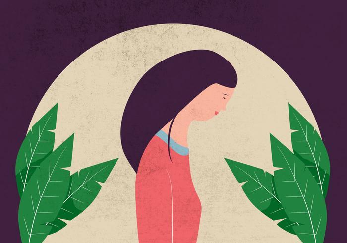 Illustration de profil de femme
