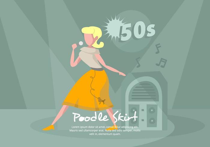 Poodle Kjol Illustration
