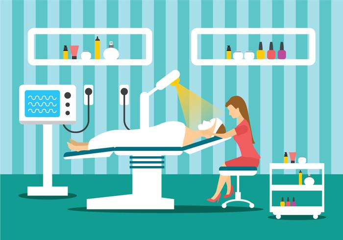 Beauty Clinic Treatment Illustration