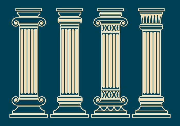 Conjunto do vetor do pilar do Corinthian