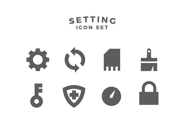 Einstellung Icon Set Free Vector